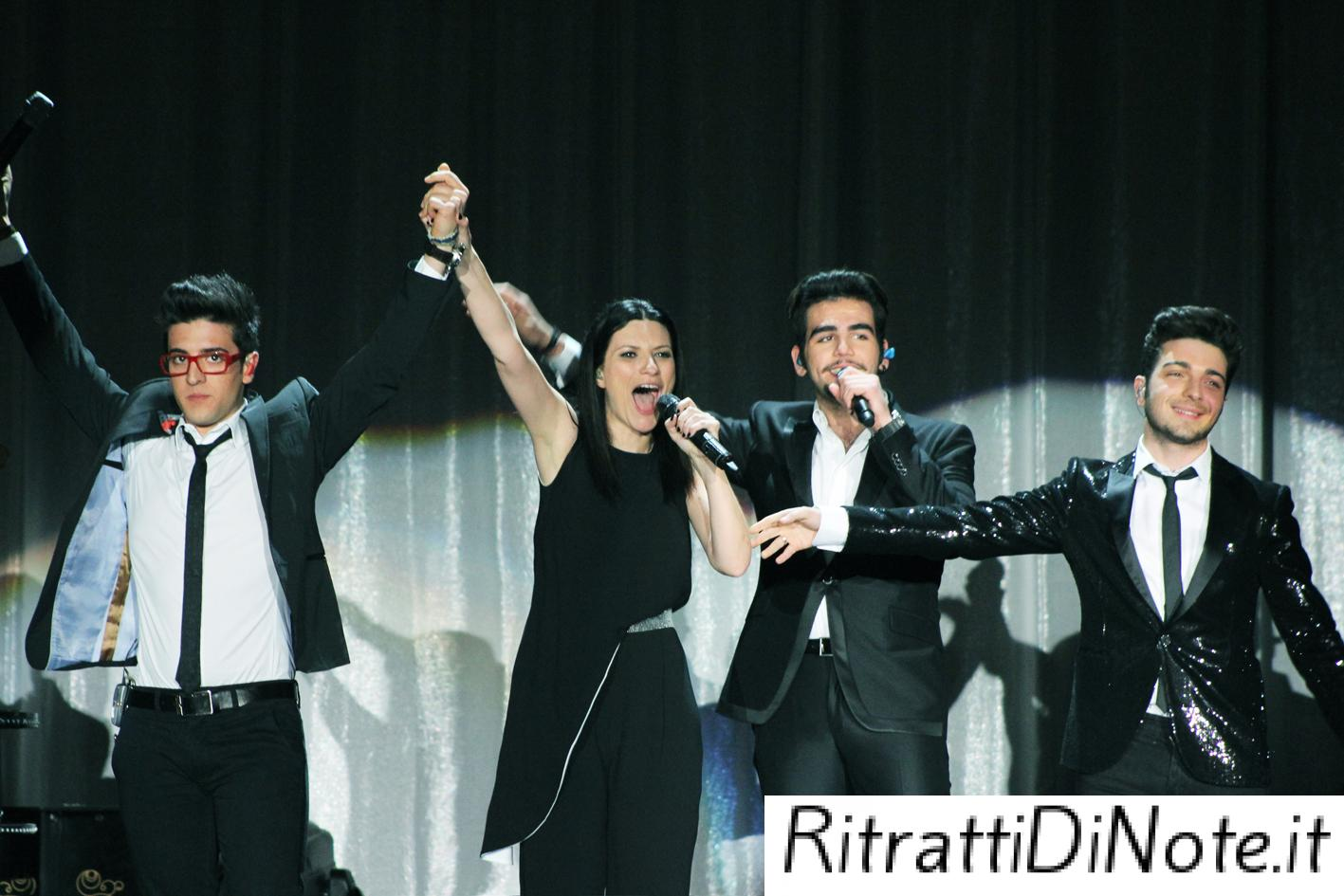 "Laura Pausini e i ragazzi de Il Volo ©""The Theater at Madison Square Garden"""