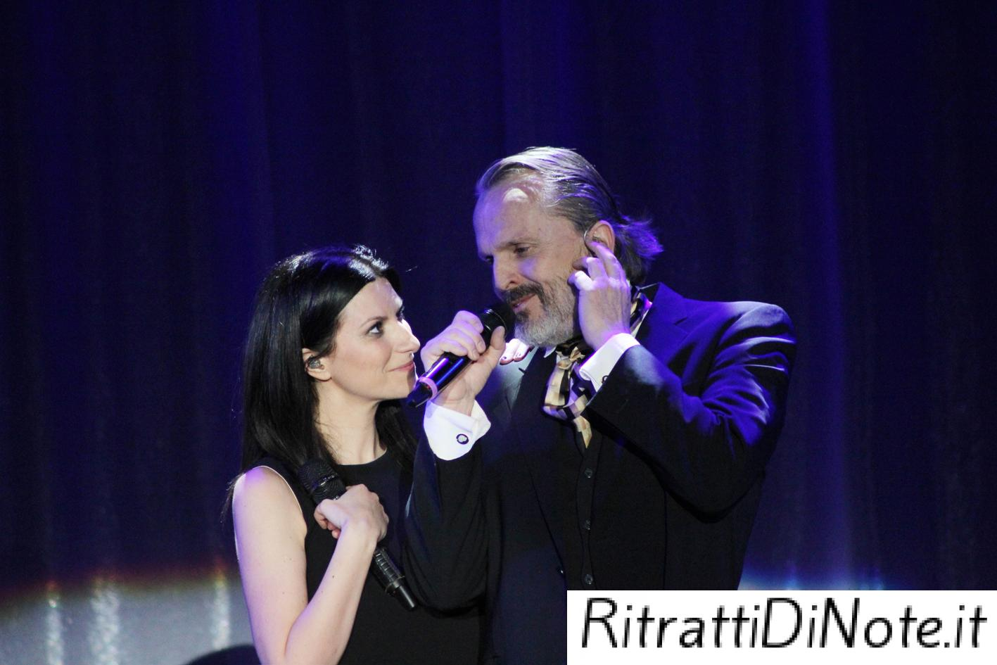 "Laura Pausini e Miguel Bosè ©""The Theater at Madison Square Garden"""