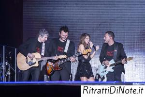 Alessandra Amoroso con la band Ph Luigi Maffettone