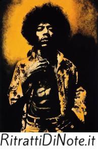 Jimi Hendrix. Ritratto di Gabriele Vegna