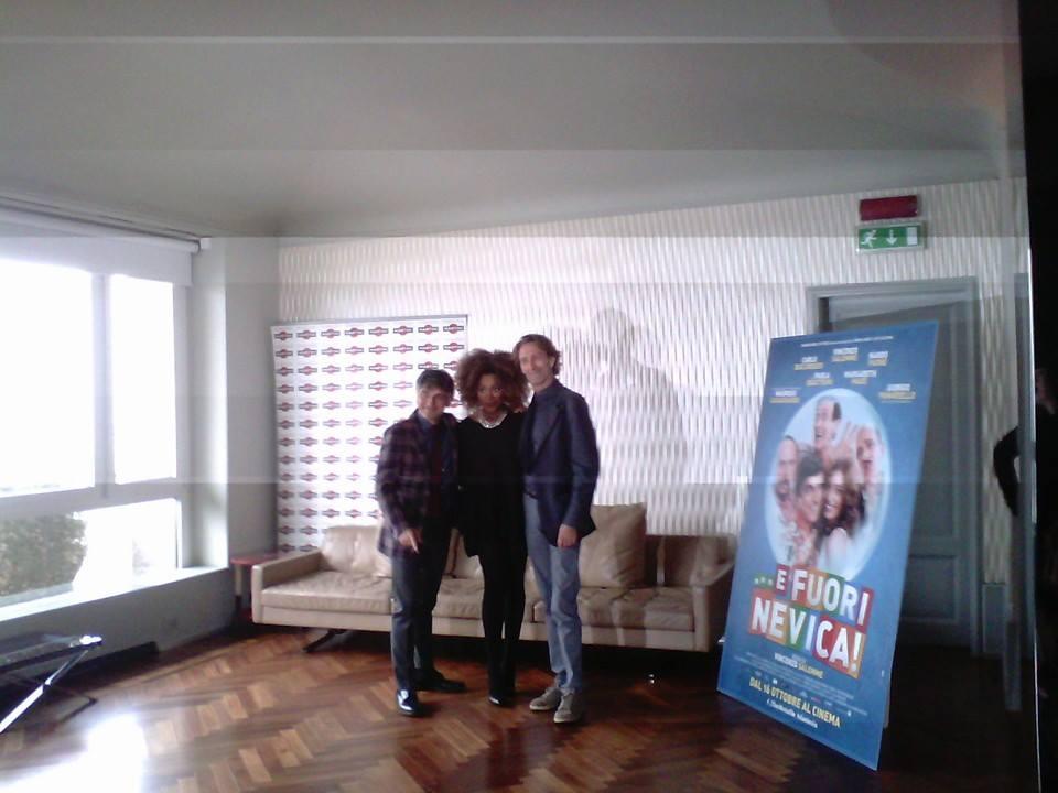 Loretta Grace con Vincenzo Salemme e Nando Paone