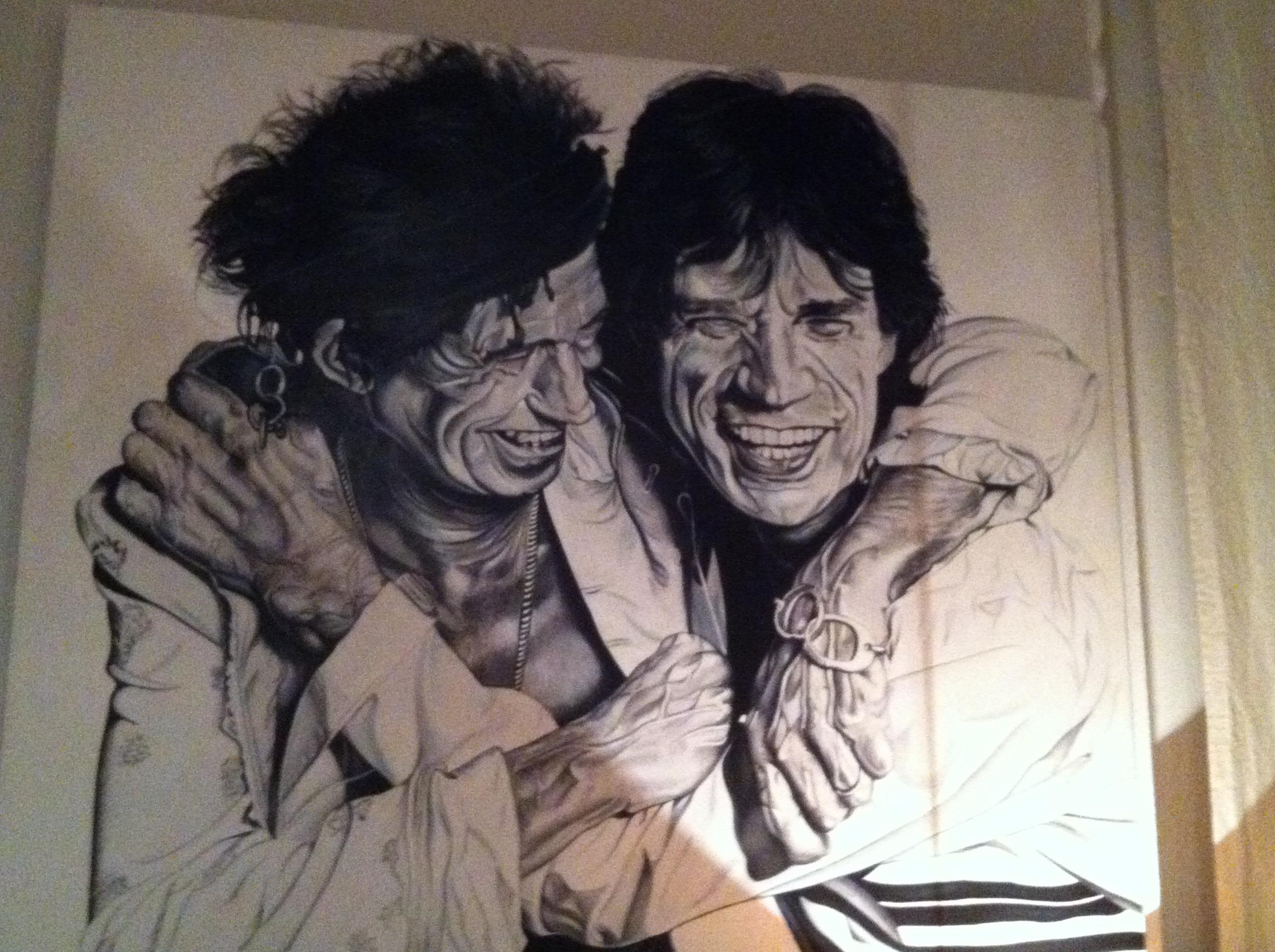 """Uno dei dipinti di Gabriele Vegna in esposizione alla mostra """"Midnight Rambler"""""""