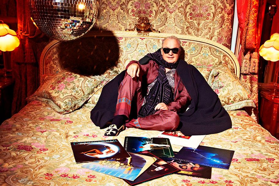 Giorgio Moroder (lo scatto è presente nella gallery pubblicata su www.giorgiomoroder.com)