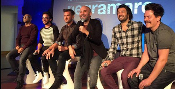 I Negramaro durante la conferenza stampa a Milano