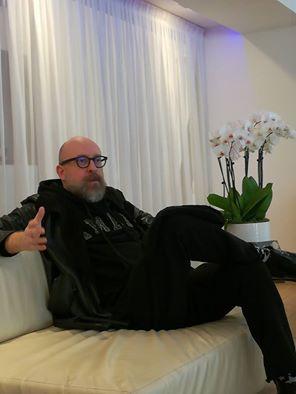 Mario Biondi durante l'intervista