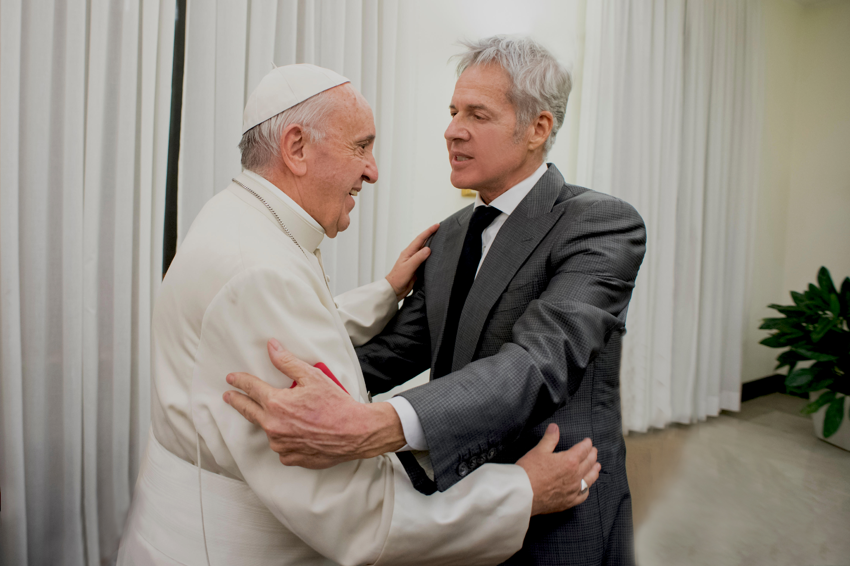 Papa Francesco e Claudio Baglioni Per gentile concessione dell'Osservatore  Romano,   Città   del   Vaticano