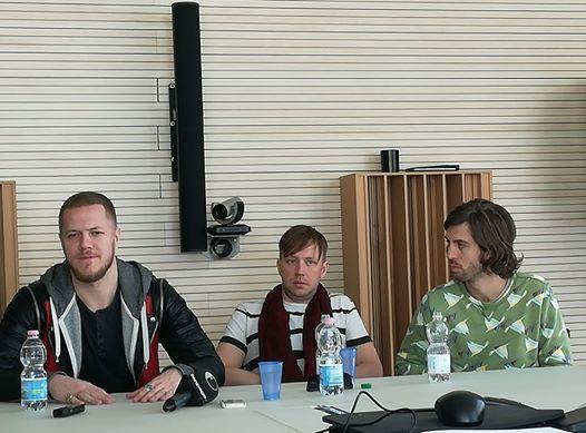 Imagine Dragons (incontro stampa Milano @ Universal Music)