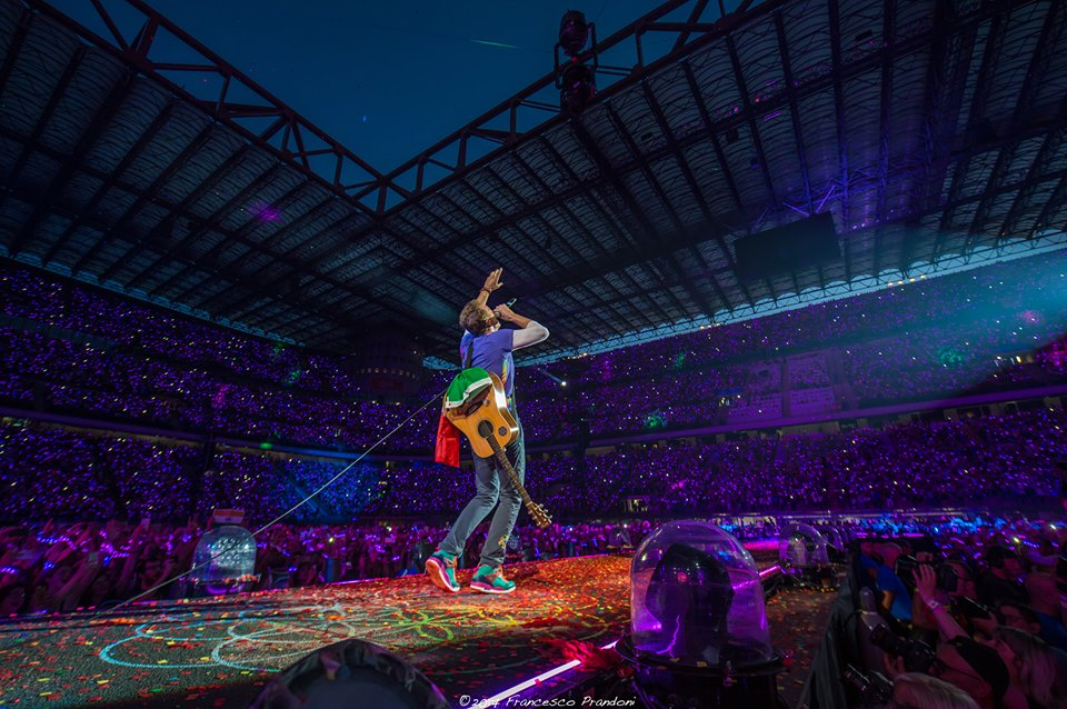Coldplay live- San Siro foto di Francesco Prandoni