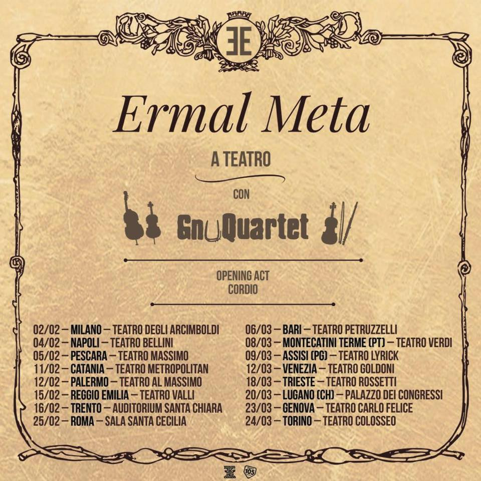 Ermal Meta - tour a teatro